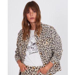 Amuse Society Isabela leopard print jacket xs